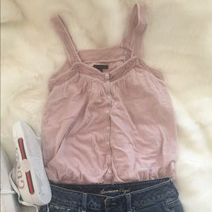 American Eagle Outfitters blush pink top M